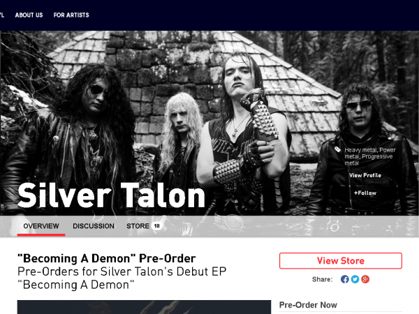 Silver Talon Pledge Music Store