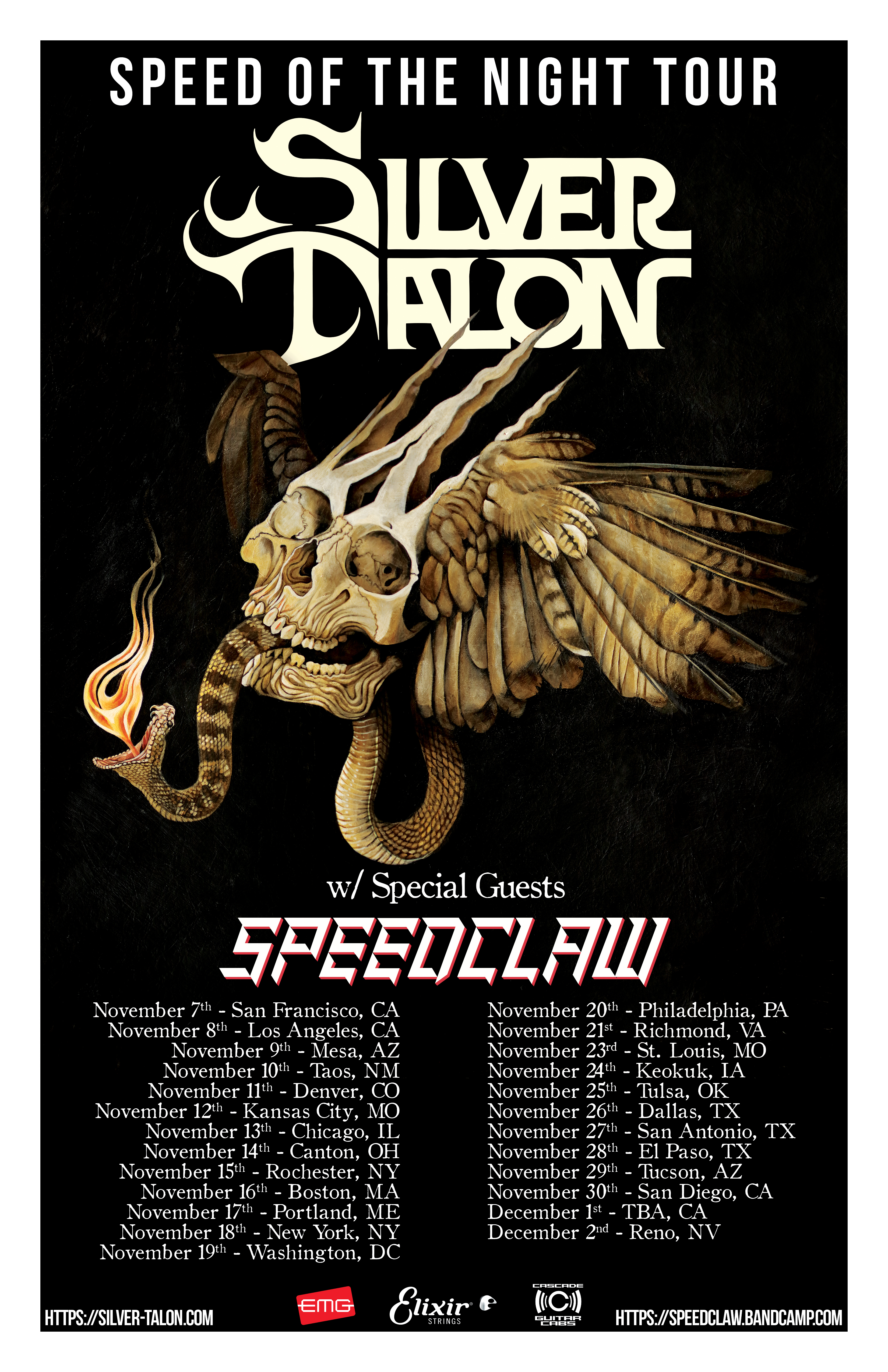 Silver Talon Speed of the Night Tour with Speedclaw