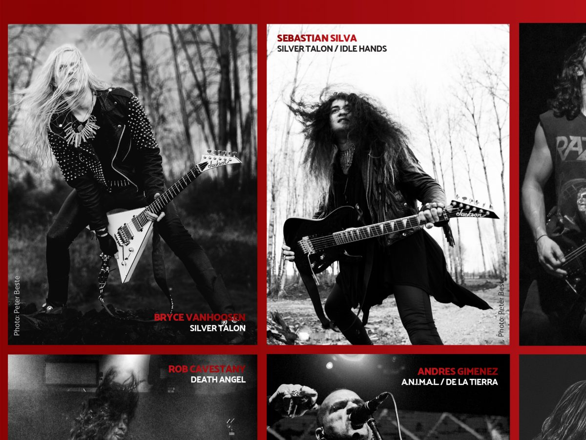 Bryce VanHoosen and Sebastian Silva in Jackson Guitars 20202 Catalog